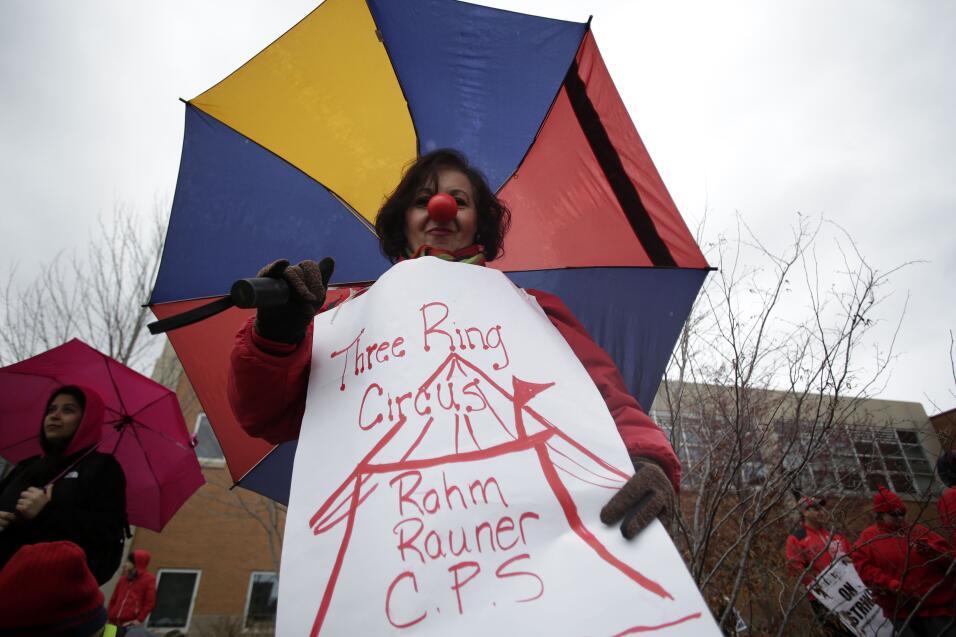 Imágenes de la huelga de maestros en Chicago