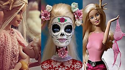 Imágenes de Barbie de la colección creada por la artista Annelies Hofmeyr.