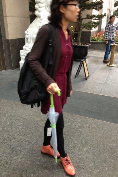 Las mujeres de China son muy arriesgadas y creativas a la hora de vestir...