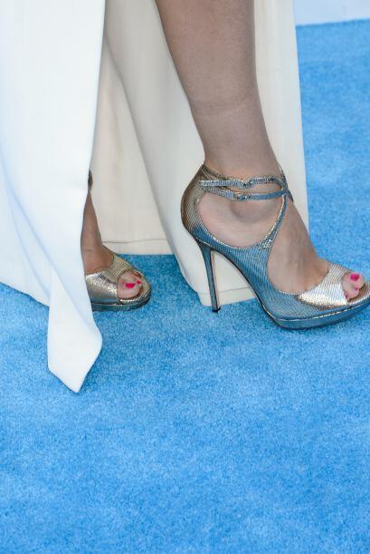 Estas zapatillas plateadas de Jimmy Choo son bellísimas y seguramente la...
