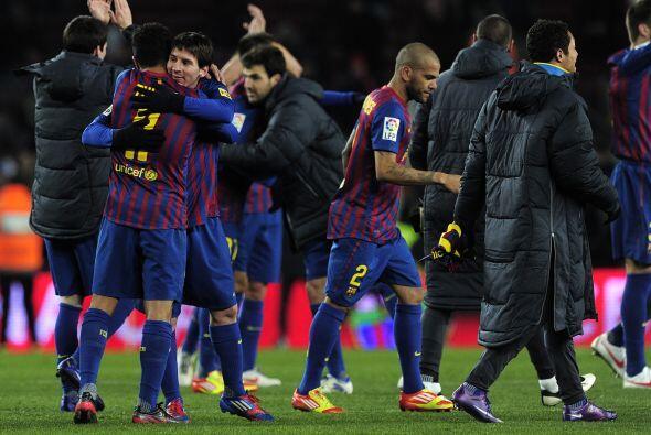 Barcelona festejó el pase con toda su afición, que los ha apoyado a lo l...
