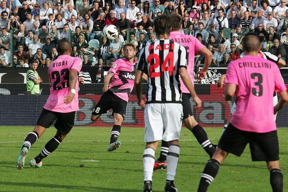 El jugador de la Juventus fue el afortunado de aparecer en el momento in...