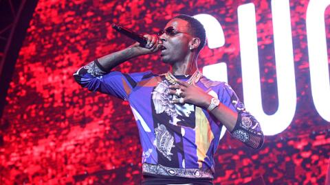 Rapper Young Dolph performs onstage at the at the BET Experience at Stap...