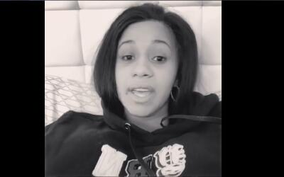 Rapper Cardi B posts a video to her Instagram page on Tuesday, January 3...