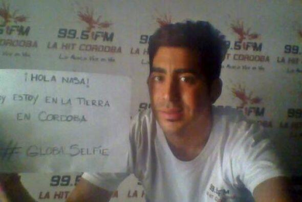 Y desde Cordoba para el mundo, una fofo selfie #GLOBALSELFIE. Fotos toma...