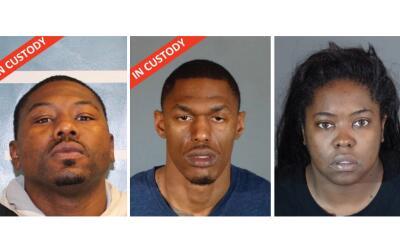 Los sospechosos de izquierda a derecha: Quinton Brown III, Gerald Lavell...
