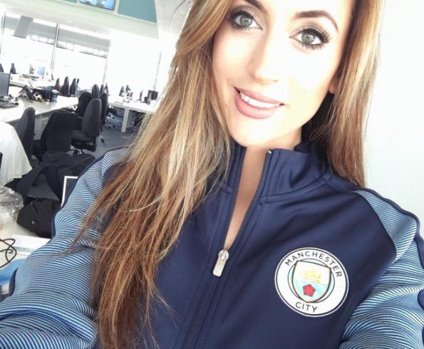 La cara bonita del Manchester City se llama Kelly O'Donnell Captura de p...