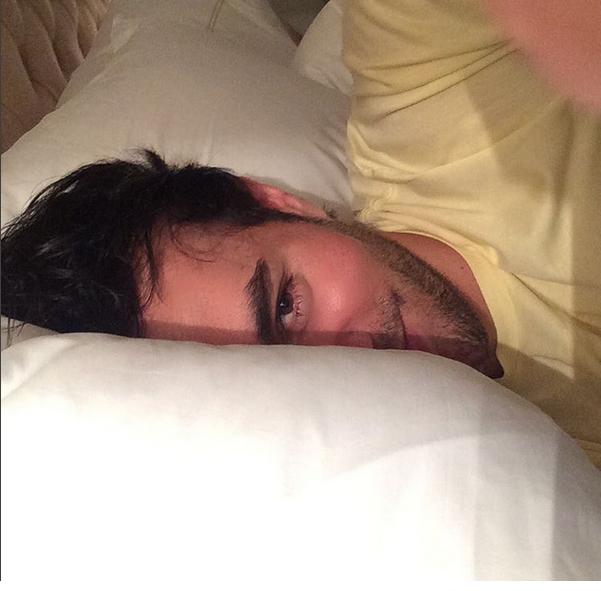en la cama