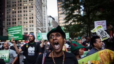 Desamparados marchan al City Hall de Nueva York