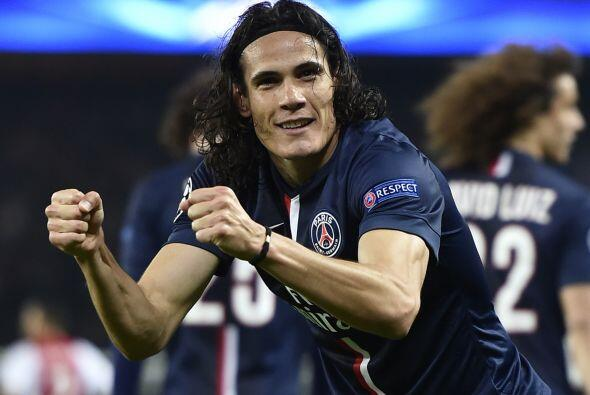 La octava posición es del charrúa del Paris St. Germain, Edinson Cavani...