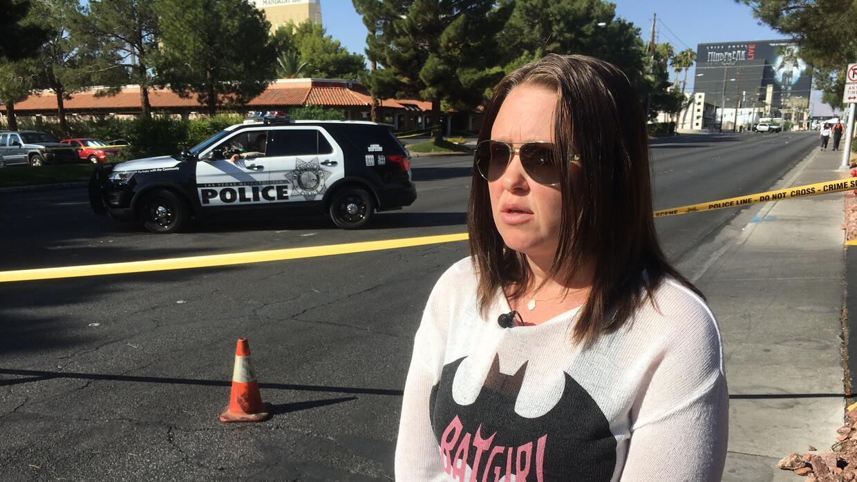 Courtney Long, sobreviviente de la masacre en Las Vegas.