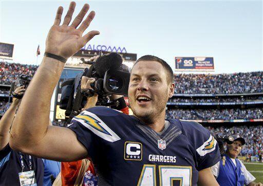 Philip Rivers, quarterback de los San Diego Chargers (AP-NFL)