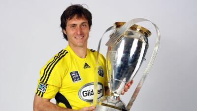 Guillermo Barros Schelotto en una producción tras ganar la MLS Cup.
