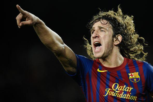 El experimentado defensor central Carles Puyol tuvo una buena temporada,...