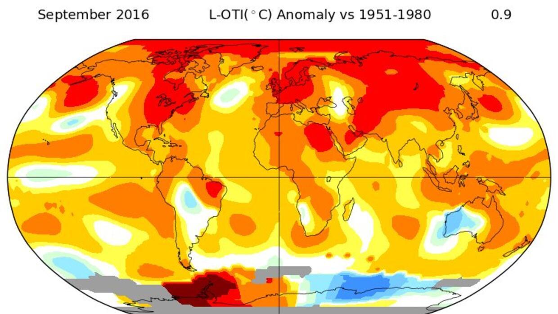 NASA: nuevo récord de septiembre augura que 2016 acabará como el más cal...