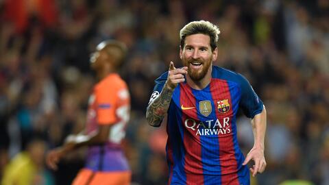 Messi marcó triplete en el triunfo del Barcelona