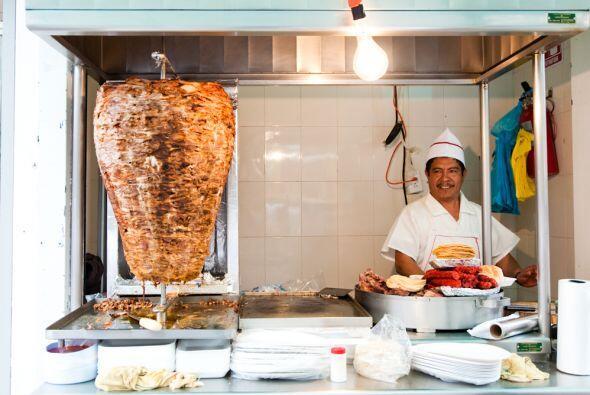 Pero el rey de la comida de las calles mexicanas es el taco al 'pastor'....