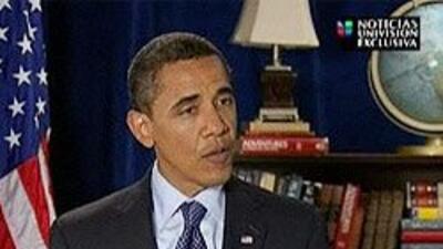 Univision habló en exclusiva con Obama sobre la crisis económica y la re...