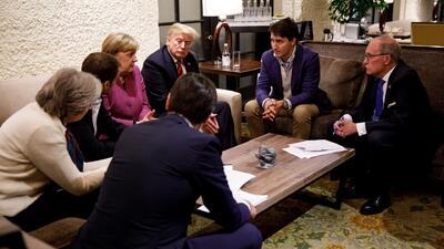 """Trump llama """"deshonesto y débil"""" a Trudeau y se niega a firmar la declaración final del G7"""