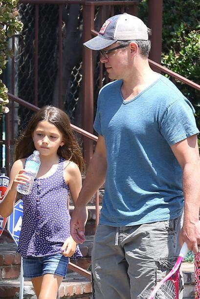 Matt conoció a Luciana en Miami hace 10 años, mientras filmaba la cinta...