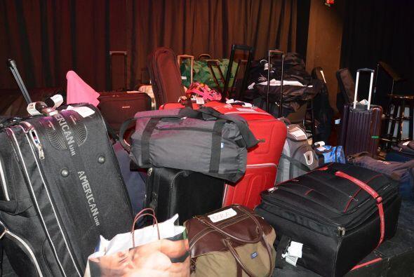 Los 19 finalistas llegaron al Teatro Trail con maletas preparadas para c...