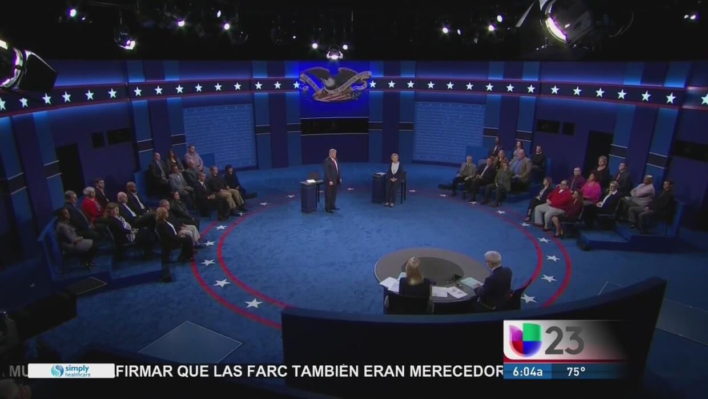 Qui n gan el segundo debate presidencial entre hillary for Piscine 3 05 x 0 91