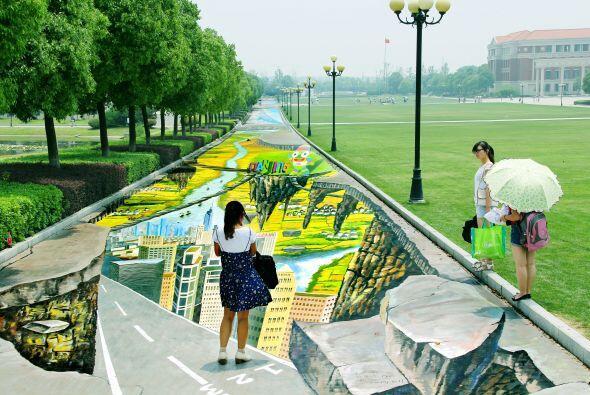 La pintura fue llamada 'Ritmos de la Juventud' y fue inaugurada en la Un...