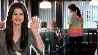 Selena Gómez se convirtió en mesera por unos minutos y nadie la reconoció