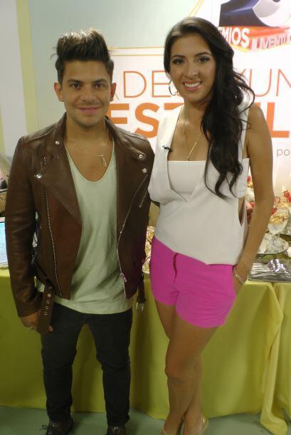 Para Oscarcito está fue la primera vez en Premios Juventud y estaba muy...