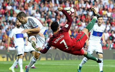 Uno de los goles de Cristiano fue de 'tijera'.