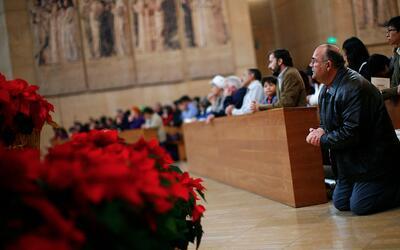 Se celebró la tradicional misa de Domingo de Ramos en la catedral de Los...