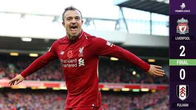 Liverpool hace valer su localía ante el Fulham para colocarse líder momentáneo