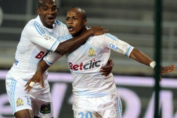 Esta semana marcó un gol en la contundente victoria del Olympique a su o...