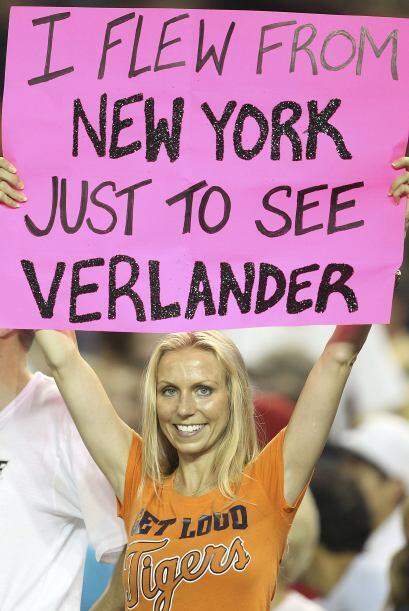 Los aficionados de los Tigres apoyaron a Verlander durante toda la campaña.