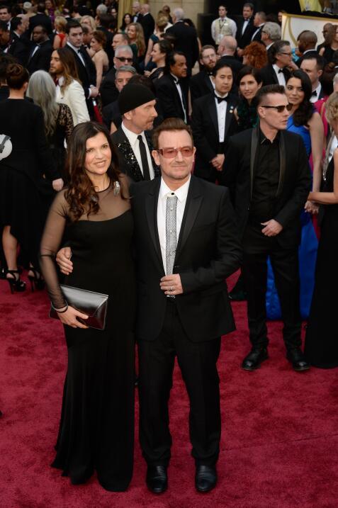 Bono y Alison Hewson