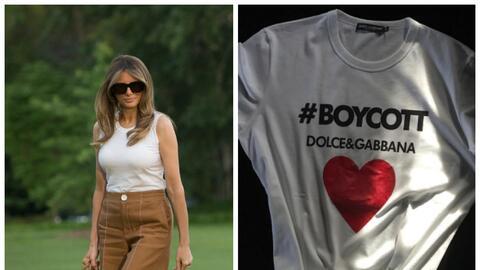 Para su llegada oficial a la Casa Blanca Melania Trump eligió una...
