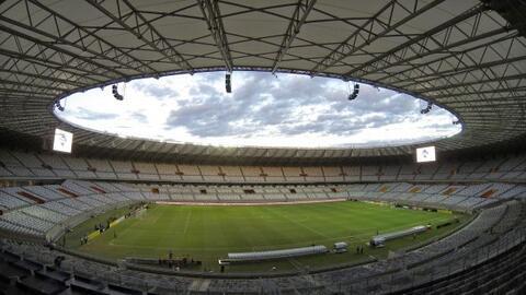 Vista general del estadio de Mineirao, uno de los estadios que fue total...