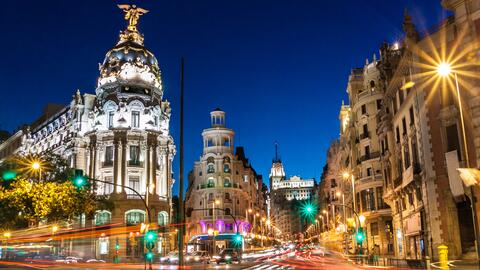 La Gran Vía es una de las principales calles del centro de Madrid...