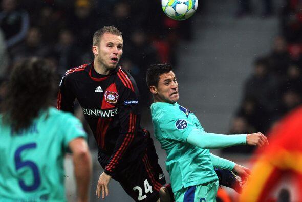 El Leverkusen intentó reaccionar pero los 'culé' manejaban los 'hilos' .