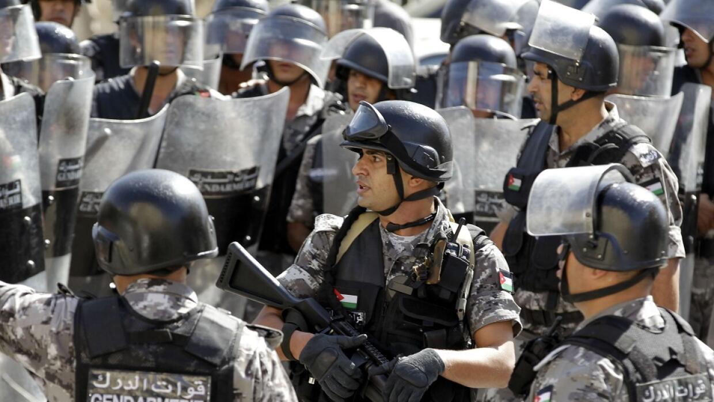 Policías jordanos