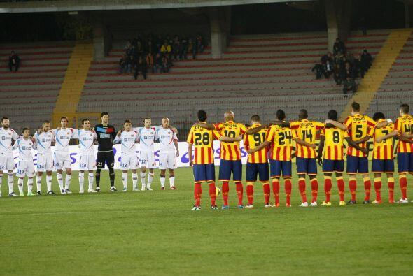 El Lecce recibió al Catania, que quiere salir pronto de la zona b...