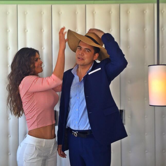 Chiquinquirá Delgado y Orlando Segura