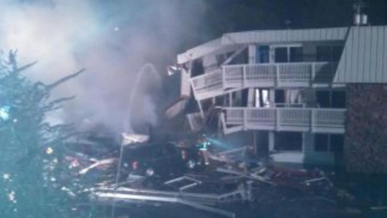 Imagen del motel tras la explosión. (Twitter:Bremerton Police@Bremerto...