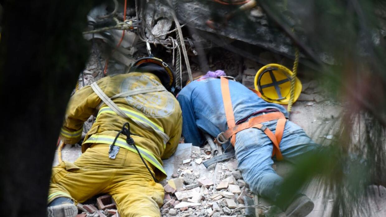 Siguen las labores de rescate.