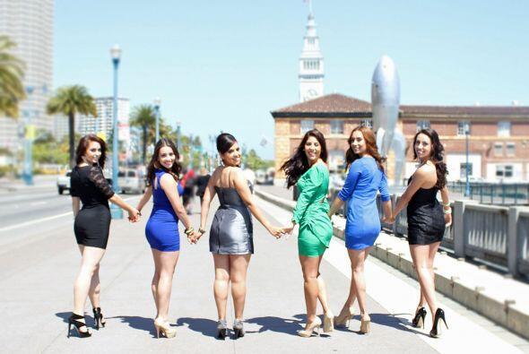 Siete jovenes hermosas participaron en el Certamen de Señorita Ja...