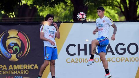 Mira imágenes de la selección colombiana practicando en el...