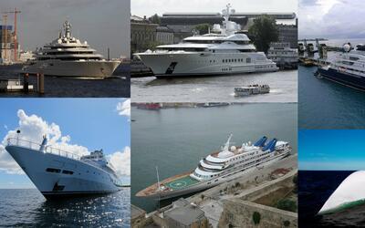 En el mundo hay enormes yates que navegan por las aguas de distintos mar...