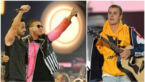 Justin Bieber, Luis Fonsi y Daddy Yankee