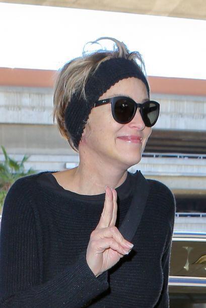 Así la vimos llegando al Aeropuerto Internacional de Los Ángeles.