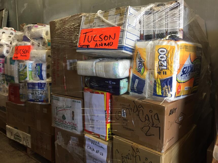 Donativos recibidos en Arizona serán envíados en un camión a Hermosillo...